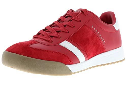 Skechers 52322/RED Zinger-Scobie Herren Sneaker Turnschuhe Halbschuhe rot/weiß, Größe:45, Farbe:Rot