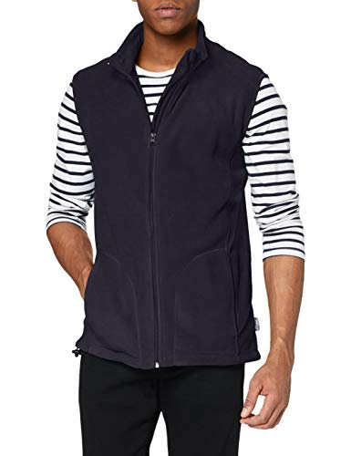 Stedman Apparel Active Fleece Vest/ST5010 Sweat-Shirt, Bleu Minuit, XXL Homme