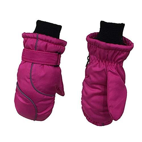DJLHN® Skihandschuhe, warm, winddicht, wasserdicht, für Kinder, warm, für den Winter 2 A