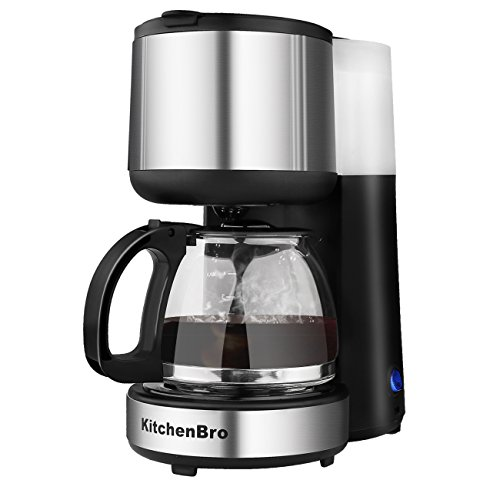 Coffee Maker 4 Cup Stainless Steel with Warming Plate (silver1)