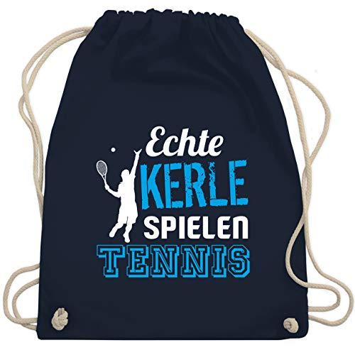 Shirtracer Tennis - Echte Kerle spielen Tennis - Unisize - Navy Blau - tennis jungs - WM110 - Turnbeutel und Stoffbeutel aus Baumwolle