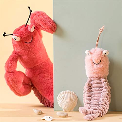 Yaduokj Plüschtiere Kinder Squishy Shrimp Weiches Kissen Große Waschbär Spielwaren Gefüllte Tiere Plüschtiere Plüsch Puppe Säugling Spielzeug Room Dekoration Geschenk (Color : 26cm)