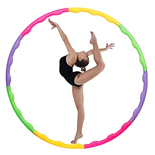 joofang 8 Teile profi Kinder Hula Hoops, farbig Plastik Reifen, Durchmesser 65 cm,Gewicht120g, einfach,einstallbar, klein,nachfüllbar,für Fitness, Sport,Test,Gymnastik für 3–8 Jahre alte Junge Mädchen