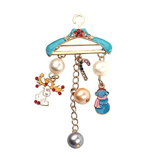 Percha Papá Noel Aleación de Zinc Percha de diamantes de imitación Colgante Accesorios de joyería de moda Fiesta de Navidad Broches de mujer