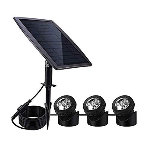 Wlnnes One for Three Outdoor Solar Pond Light,18 LEDs RGB Solar Spotlight Ip68 Waterproof Outdoor Landscape Light Used for Swimming Pool, Garden, Aquarium