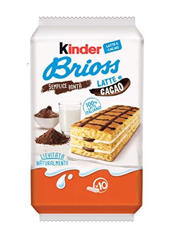 Kinder Ferrero Brioss Kuchen mit Milch und kakao 10x 30gr kekse cookies riegel
