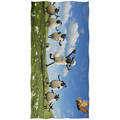 Leo-Shop Shaun das Schaf Badetuch Strandtuch Übergroße 51 x 32 Zoll Verwenden Sie als Yoga Reise Camping Gym Pool Handtücher