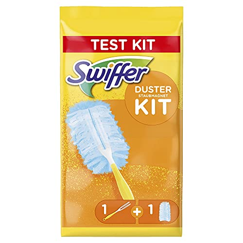 Swiffer Duster Kit con Mango y Recambio para Plumero - 1 Unidad