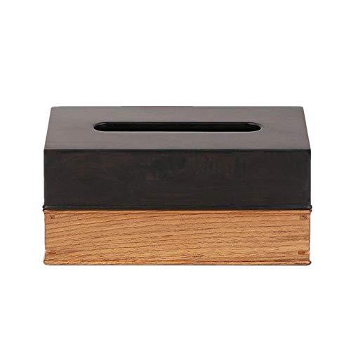Almacenamiento de pañuelos Caja de pañuelos faciales de madera Mesa de centro china para el hogar Sala de estar Cajón de almacenamiento creativo Bandeja de oficina Hotel Caja de pañuelos de madera mac