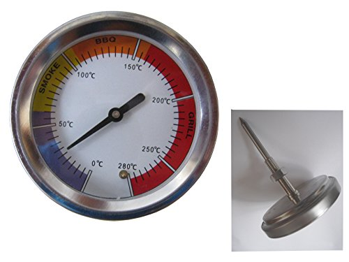 Dr. Richter Grill- und Smokerthermometer - Thermometer - 0 bis 280 °C - Grill Smoker