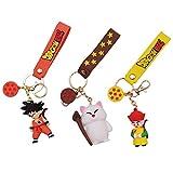 3 piezas Anime Dragon Ball llavero Goku figuras juguetes llaveros colgante Dragon Ball llavero PVC c...