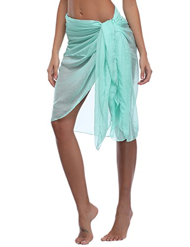 iClosam Dames Chiffon Strand Pareo Sarong Bikini Cover Ups Sjaals Omslagdoeken Zomervakantie Strand Rok Jurk Transparant