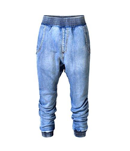 YiLianDa Skinny Slim Vaqueros Cropped Trouser Pantalones para Mujer
