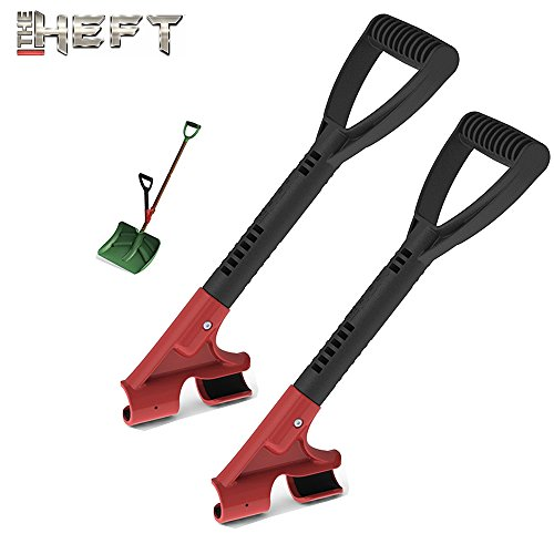 The HEFT Plus Secondary Back Saver Handle for Snow Shovels and Garden Tools as seen on Dragon s Den (Canada Shark Tank) (2, Standard)