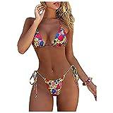 Bikinis brasileños Tanga Trajes de Baño de Dos Piezas Ropa de Playa Mujer Sexy Dividido bañadores Mujer Natación Halter con Espalda Fiesta de Piscina Micro Mini Bikinis Mujer Push up 2021