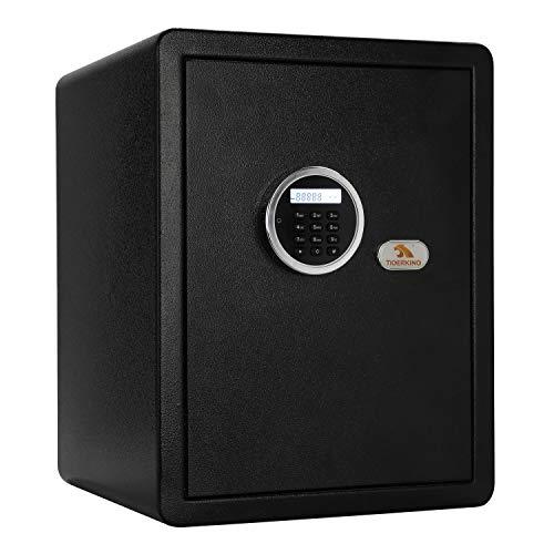 TIGERKING Safe Box with Keypad Digital Safe for Home, Office, Hotel, Black - 1.8 Cubic Feet