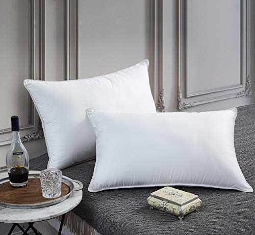 Premium Goose Down Pillow King Size 750 Fill Power 1200 Thread Count 100 Egyptian Cotton Cover product image