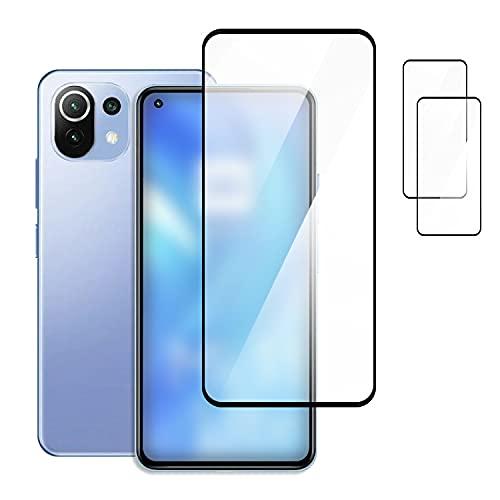 Xiaomi Mi 11 Lite 5G用ガラスフィルム【2枚セット】強化ガラス 液晶保護 9H 液晶保護シート シャオミ 小米 11 ライト 5G 液晶保護ガラスシート貼りやすい 画面保護 保護フィルム貼りやすい 指紋防止 傷防止