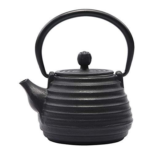 Teekannen, 500ml Japanische Tetsubin Gusseisen Tee-Kessel for Kochplatte Mit Edelstahl Infuser, for 1-2 Person Teaware