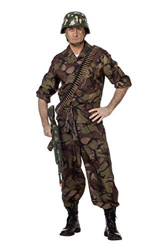 Herren Kostüm Soldat Camouflage Uniform Karneval Fasching Gr.50