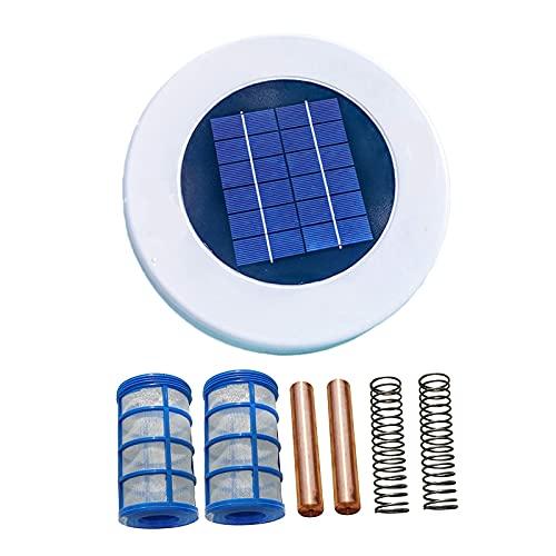 B Blesiya Ionizador solar para piscina LED, cobre, plata, purificador de agua de algas