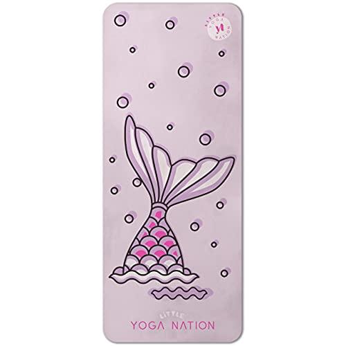 Tapis de yoga pour enfant fille - Imprimé en microfibre - Tapis d