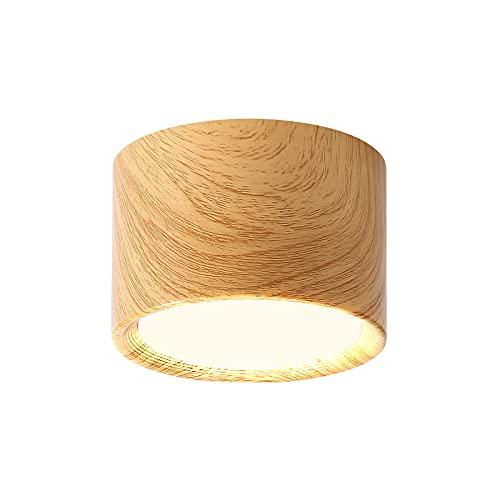 RIItif - Faretto da soffitto LED in metallo, 3000 K, bianco caldo, 12 W, per soggiorno, sala da pranzo, cucina, corridoio, camera da letto, Ø 120 mm