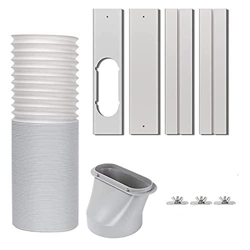 CXWHYPD Kit di ventilazione della finestra del condizionatore d'aria portatile Kit di ventilazione della finestra regolabile Diametro della tenuta 5,9 pollici Lunghezza 29 pollici Tubo di scarico