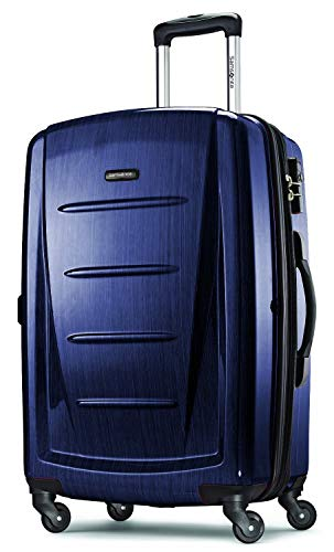 Samsonite Winfield 2 Hardside Expandable Luggage with Spinner Wheels, Navy, Checked-Medium 24-Inch