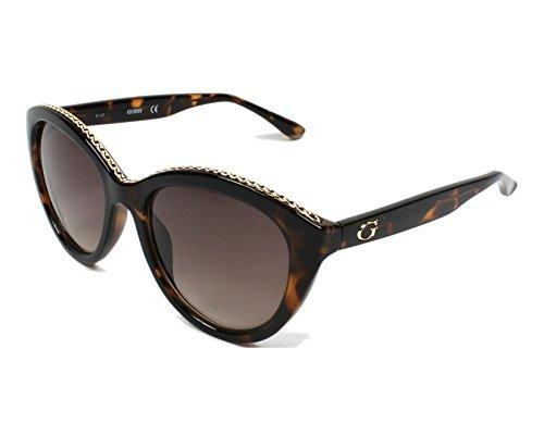 Guess Unisex-Erwachsene GU7505 52F 54 Sonnenbrille, Braun (Avana Scura/Marrone Grad)