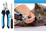 THE DDS STORE Cat Nail Clipper with Safety Guard to Avoid Over-Cutting & Free Nail File, Dog Nails Clippers Small to Large, Pet Nail Clippers for Dogs Cats Birds Guinea Pig Animal Claws