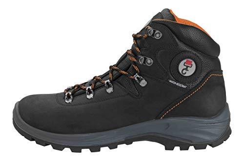 DOGGO Unisex-Erwachsene Asta Biker Boots, Schwarz/Orange, 41 EU