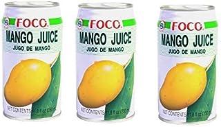 Foco - Paquete de Néctar de Mango 3 - Lata 3x350ml - De Tailandia