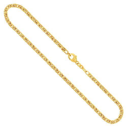 Goldkette, Königskette Gelbgold 585/14 K, Länge 50 cm, Breite 2.8 mm, Gewicht ca. 27.5 g, NEU