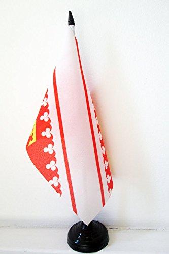AZ FLAG Drapeau de Table Alsace 21x14cm - Petit Drapeaux DE Bureau alsacien - Province d'Alsace 14 x 21 cm