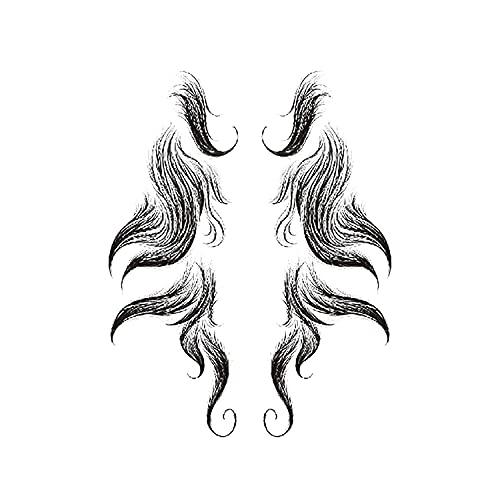 Stickers de tatouage pour les cheveux pour femmes, tatouage temporaire cheveux poils cheveux poils, coiffeur de coiffure Modèle de tatouage, salon de tatouage de cheveux Coiffure bricolage coiffure ch