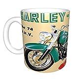 Tazza da caffè Harley Davidson, con manici grandi, per casa e ufficio, regalo divertente per donne, uomini, bambini, regalo divertente