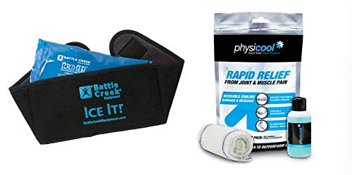 Cold & Hot Therapy System Ice Pack Wrap for Neck, Jaw, Sinus - Ice It!® MaxCOMFORT™ with Physicool Combination Pack