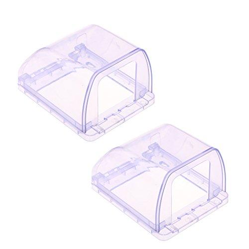 joyMerit Caja Impermeable de 2 Piezas Wallpad para Interruptor de Pared Y Enchufe 98 * 125 * 75 Mm Azul