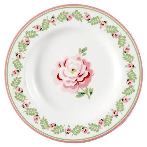 Greengate- Small Plate Lily Petit White