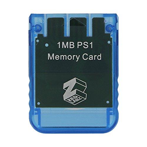 ZedLabz 1 MB Speicherkarte für Playstation one PS1 PS2 kompatibel *Lebenslange Garantie, Blau