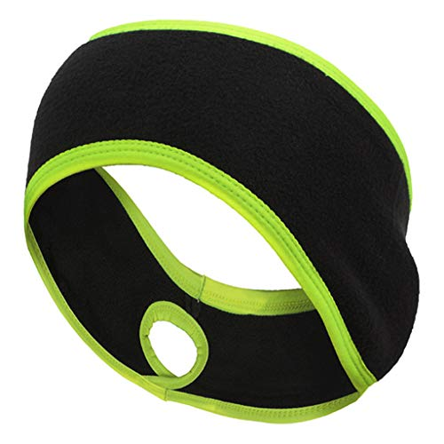 GREEN&RARE Banda para el pelo para mujer, para correr en invierno, forro polar grueso, banda para el pelo, turbante elstico para deportes al aire libre