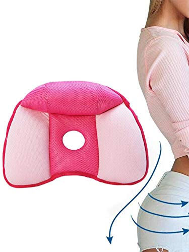 Dual Comfort Cushion Lift Hips Up Seat Latex Seat Cushion Butt Beautiful Orthopedic Memory Foam Support Cushion and Comfortable for Sciatica Pain, Tail and Hip Bone Relief: