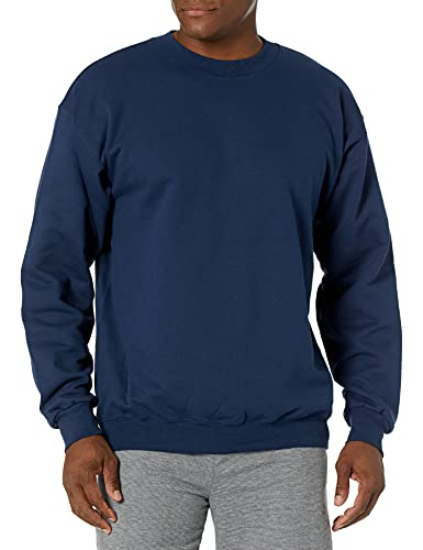 Hanes Men's Ultimate Cotton Heavyweight, Navy, Large