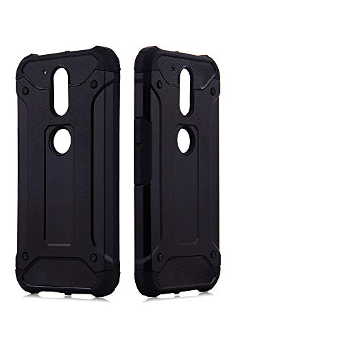 Phone Case for Motorola MotoG4 / Moto G4 Plus Cover and Cell Accessories Dual Layer Slim Full Body Protective Rugged Silicone G 4th Gen Generation G 4 4plus G4plus 4G G4+ Women Men Cases Black