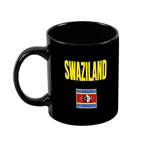 Keramik Kaffeetasse Swasiland Swazi Flagge Neuheit Kaffee Teetasse Weihnachten Urlaub Geschenk Geburtstagsgeschenke, 11oz
