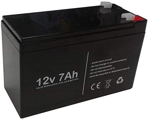 ANFEL Batteria al Piombo Ricaricabile 12V 7AH 20hr per allarmi antifurti ups lampade di Emergenza Giocattoli peg perego 7,2Ah 7,5Ah