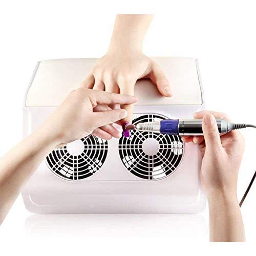 Nagel Staubsammler Professionelle Nagel Staubsauger Zwei Fans Nageltrockner Salon Fingernagel Kunst Design Tools Maniküre Maschine