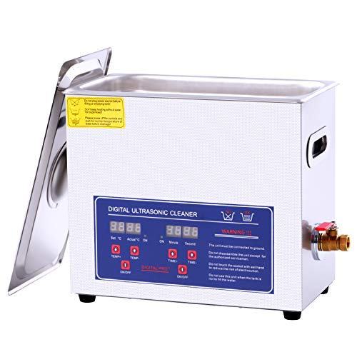 6.5L Ultrasonic Cleaner ,Digital Timer Heater Commerical Ultrasonic Parts Cleaner…