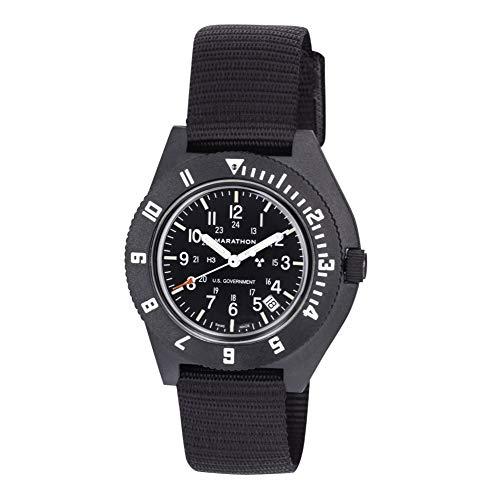 Marathon Watch Navigator Swiss Made Military Issue Pilot's Watch. ETA F06 Movement, Date and Tritium (41mm, Black) WW194013